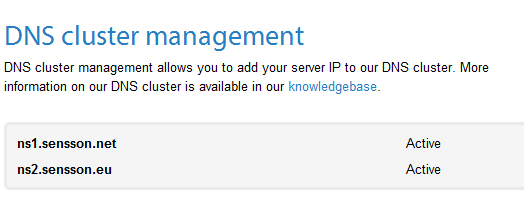 Virtual server DNS management